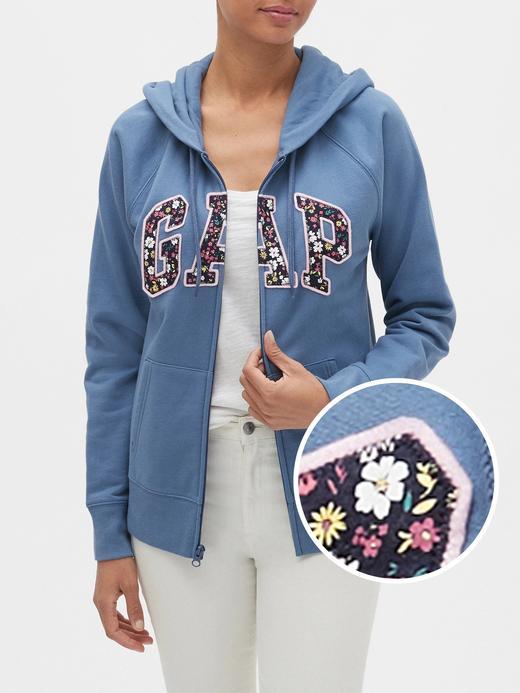 Kadın Mavi Gap Logo Kapüşonlu Sweatshirt