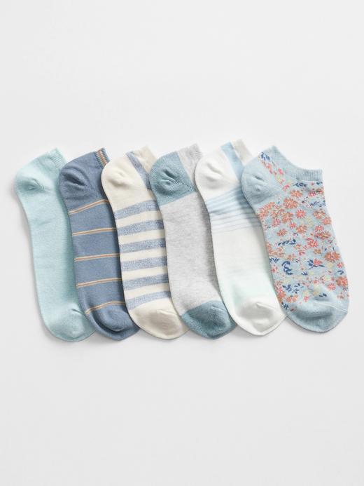 Kadın Mavi 6'lı Ankle Çorap Seti