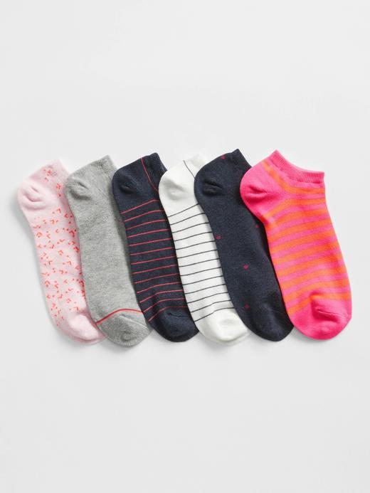 Kadın Pembe 6'lı Ankle Çorap Seti