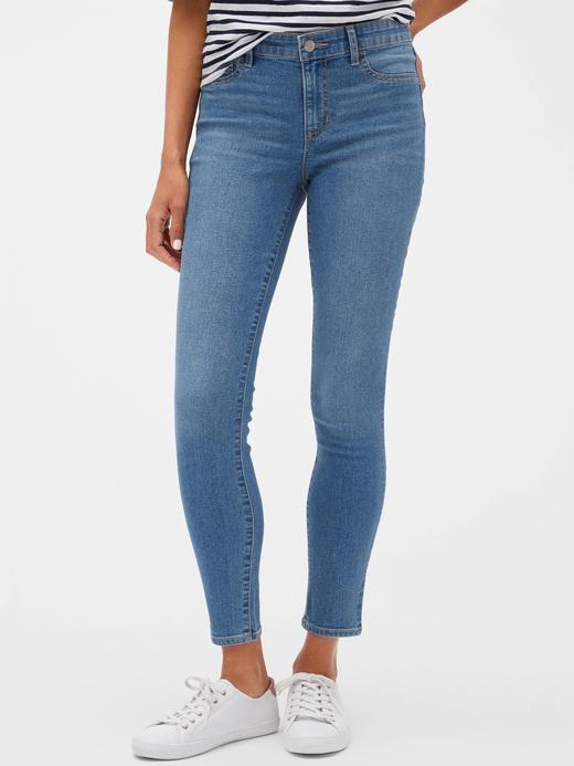 Kadın Mavi Favorite Mid Rise Legging Jean Pantolon