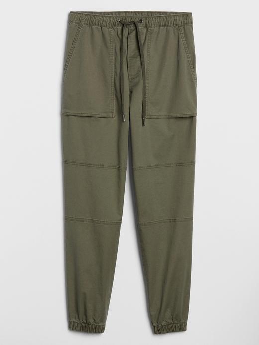 Erkek Yeşil Slim Jogger Pantolon