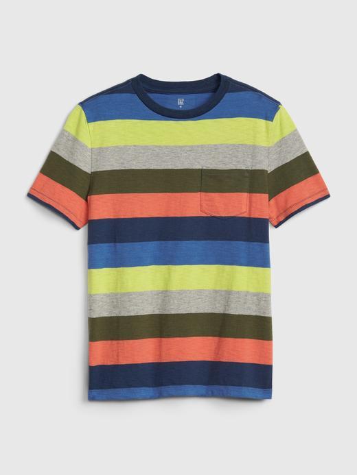 Erkek Çocuk Çok renkli Cepli Kısa Kollu T-Shirt