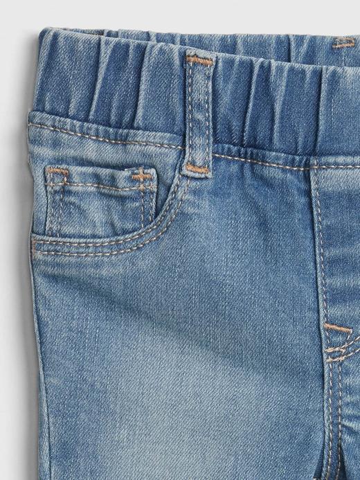 Kız Bebek Mavi Jegging Jean Pantolon