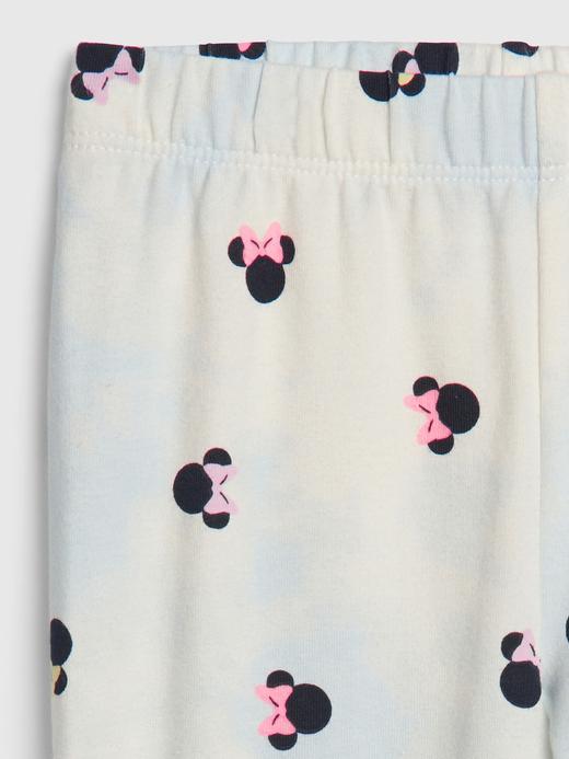 Kız Bebek Beyaz Disney Minnie Mouse Tayt