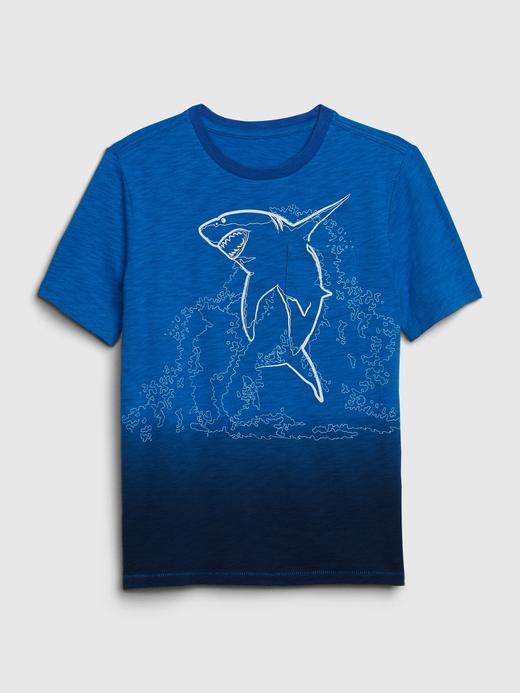 Erkek Çocuk Mavi Cepli Kısa Kollu T-Shirt
