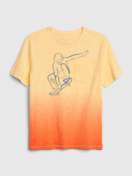 Erkek Çocuk Sarı Cepli Kısa Kollu T-Shirt