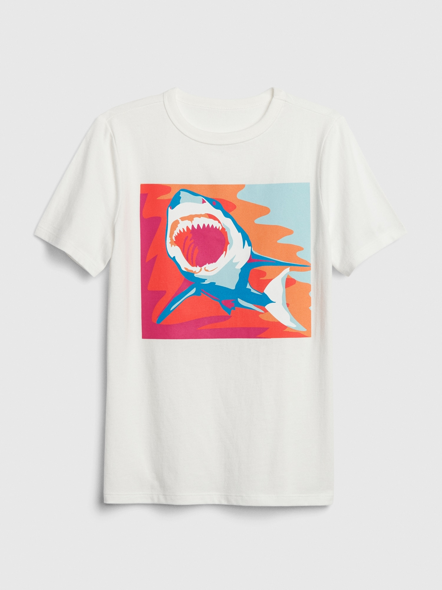 GAP Beyaz Grafik Kısa Kollu T-Shirt