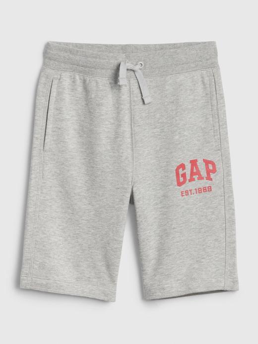 Erkek Çocuk Gri Gap Logo Şort