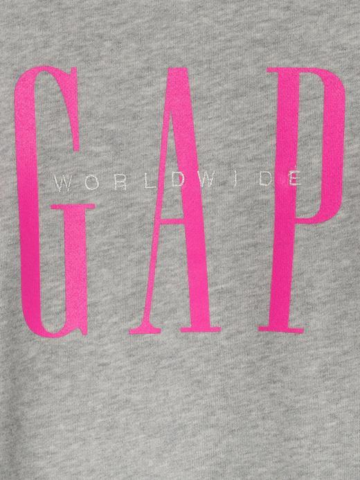 Kız Bebek Gri Gap Logo Düz Yakalı Sweatshirt