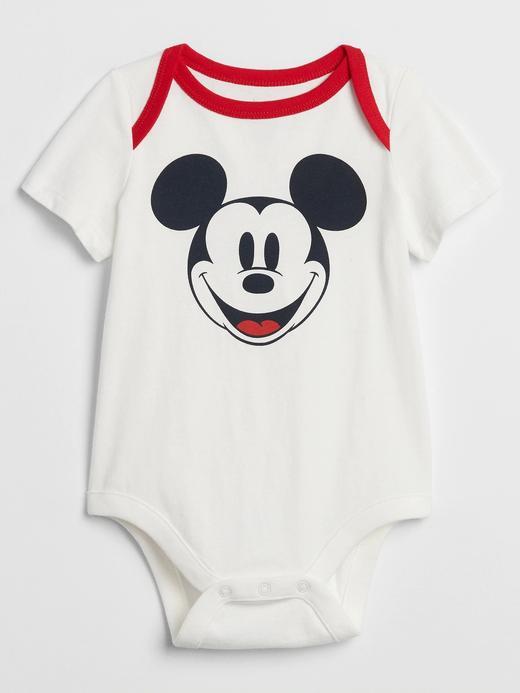 Erkek Bebek Beyaz Disney Micky Mouse Body