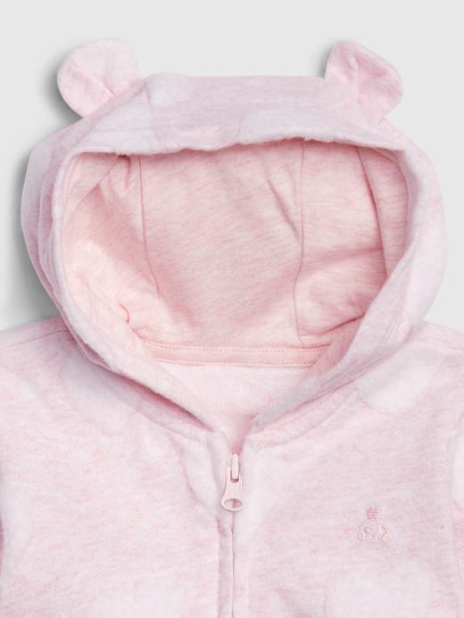 Erkek Bebek Pembe Brannan Bear Kapüşonlu Sweatshirt