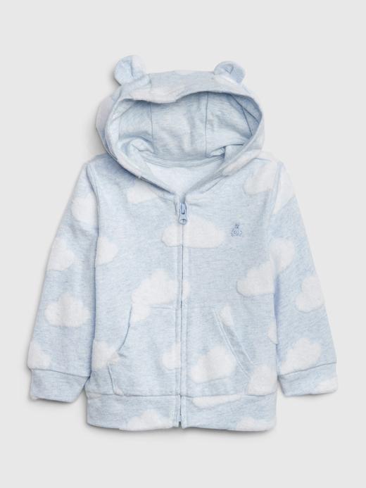 Erkek Bebek Mavi Brannan Bear Kapüşonlu Sweatshirt