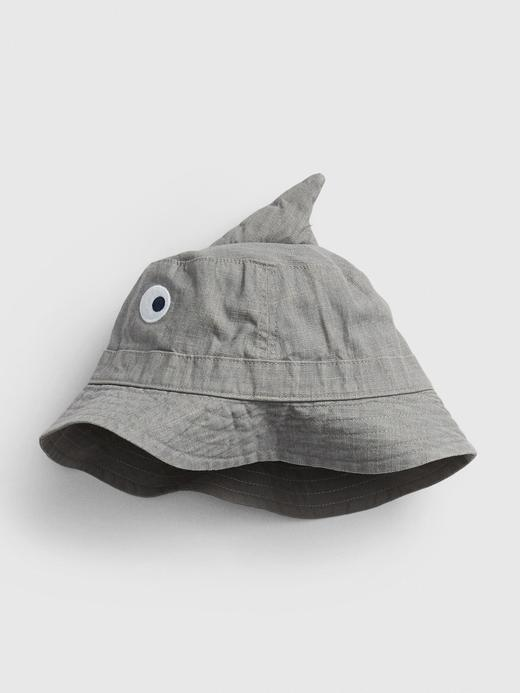 Bebek Gri Köpekbalığı Desenli Şapka