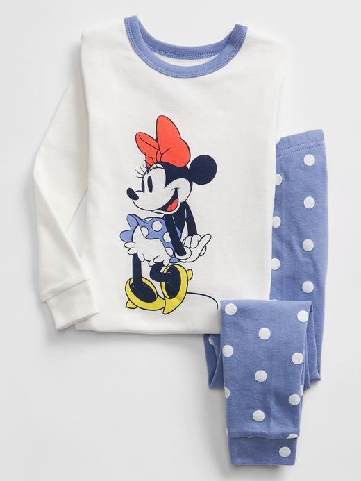 Kız Bebek Beyaz Disney Minnie Mouse Pijama Takımı