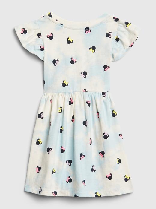 Kız Bebek Mavi Disney Minnie Mouse Elbise