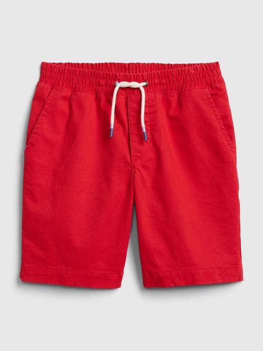 Erkek Çocuk Kırmızı Pull-On Şort