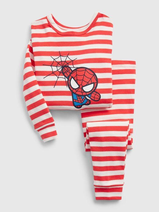 Kız Bebek Kırmızı Marvel Spider-Man Pijama Takımı