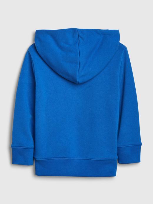 Erkek Bebek Mavi 3D Grafik Kapüşonlu Sweatshirt