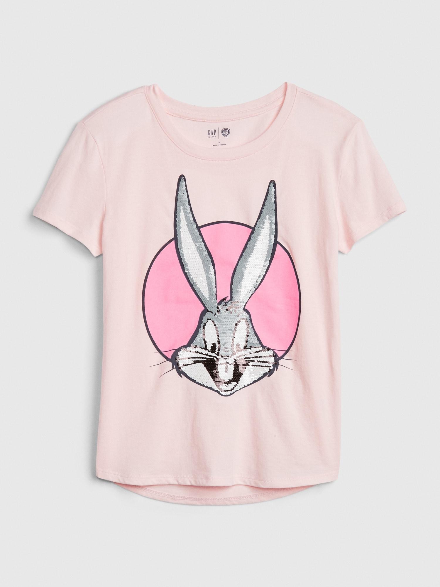 GAP Pembe Looney Tunes Kısa Kollu T-Shirt
