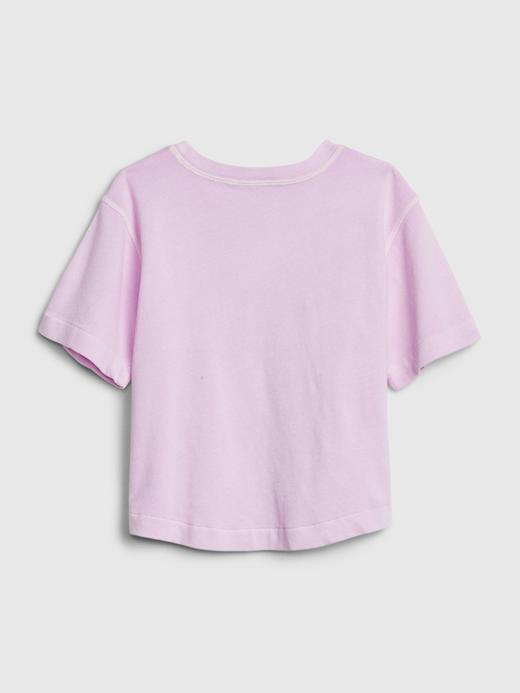 Kız Çocuk mint Gap Logo Kısa Kollu T-Shirt