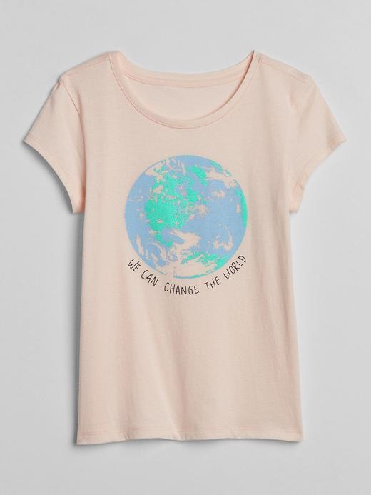 Kız Çocuk Pembe Grafik Kısa Kollu T-Shirt