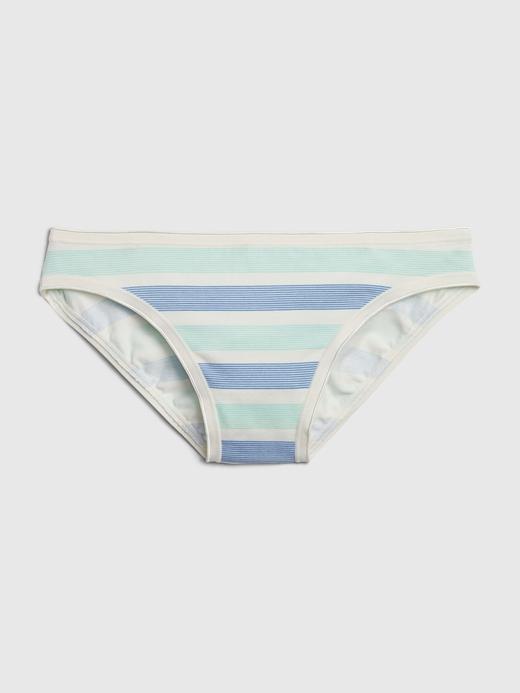 Kadın Mavi Streç Pamuklu Bikini Külot