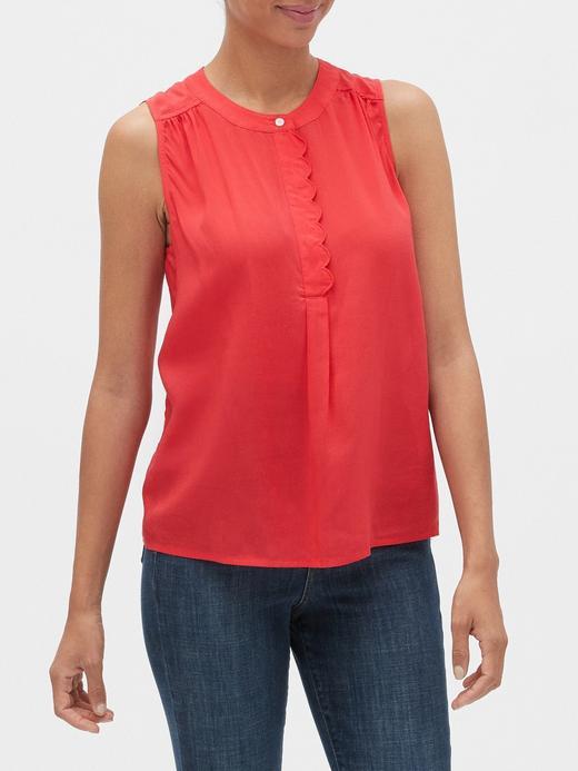 Kadın Kırmızı Kolsuz Bluz