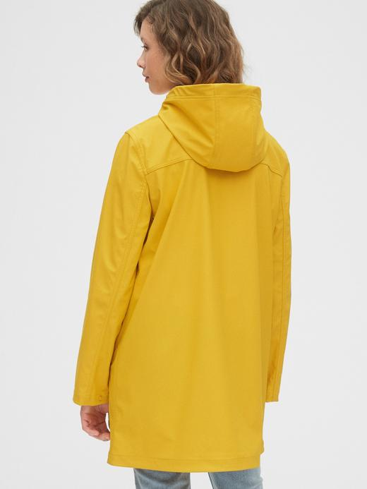 Kadın Sarı Kapüşonlu Yağmurluk