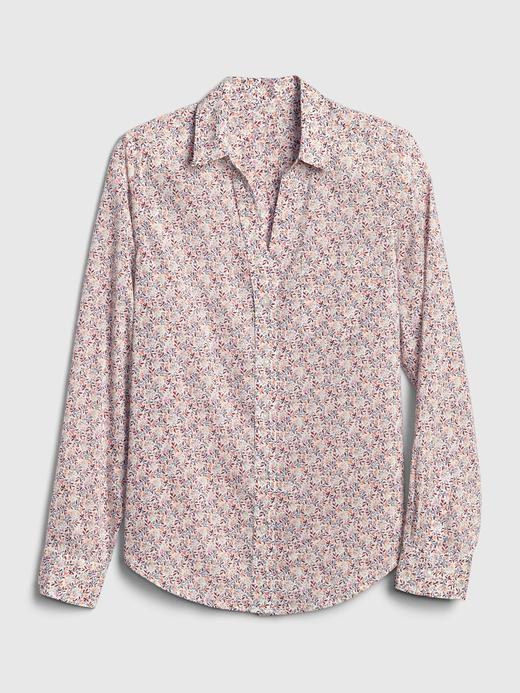 Kadın Çok renkli Desenli Uzun Kollu Gömlek