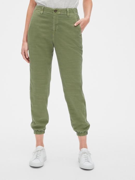 Kadın Yeşil Khaki Jogger Pantolon