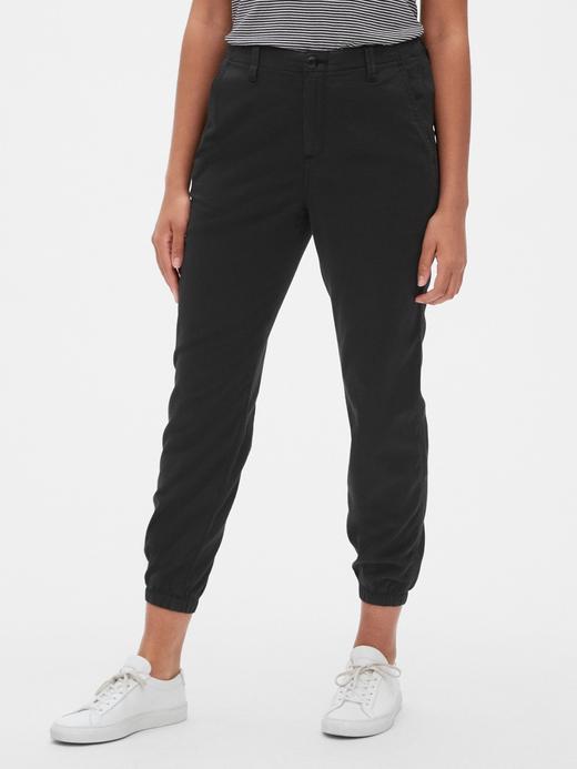 Kadın Siyah Khaki Jogger Pantolon