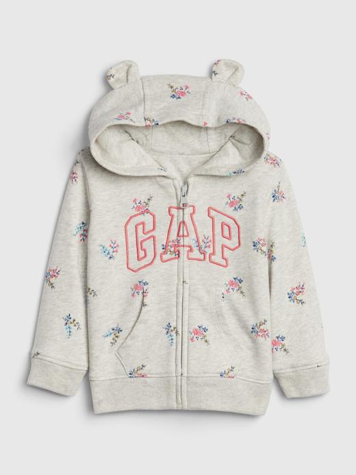 Kız Bebek Gri Gap Logo Brannan Bear Sweatshirt
