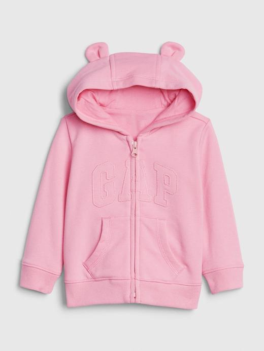Kız Bebek Pembe Gap Logo Brannan Bear Sweatshirt
