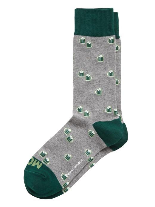 Erkek Gri Desenli Çorap