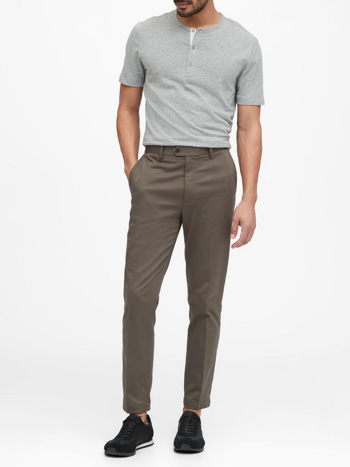 Erkek Mavi Slim Traveler Chino Pantolon
