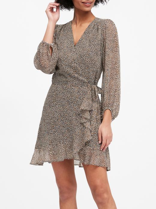Kadın Kahverengi Fırfırlı Anvelop Elbise