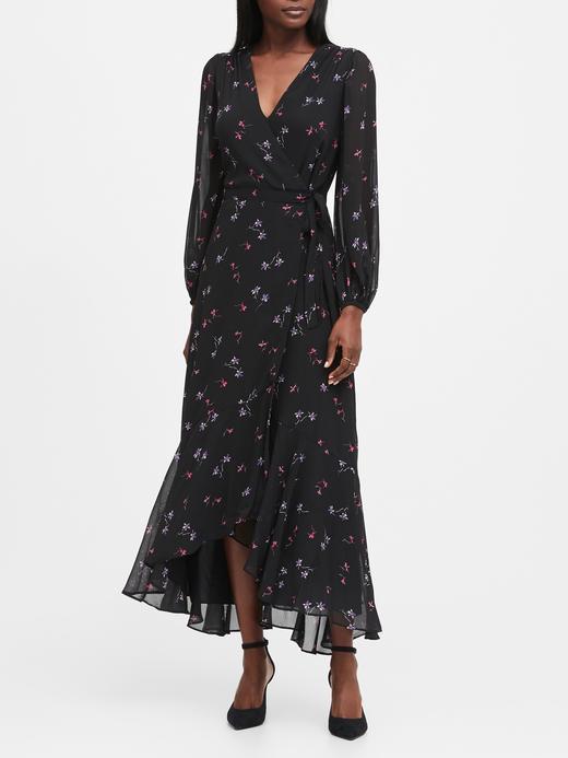 Kadın Siyah Maxi Anvelop Elbise