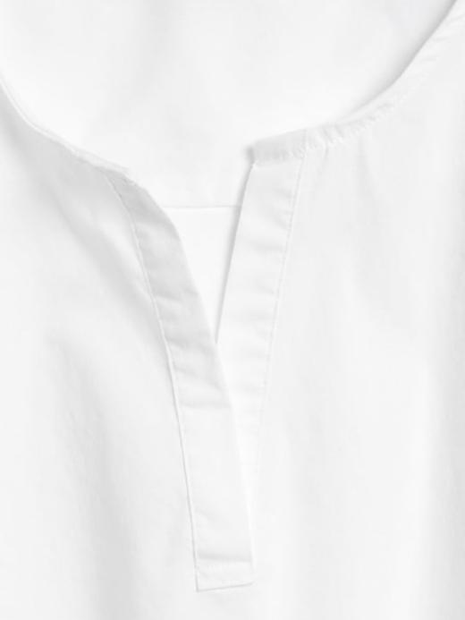 Kadın Beyaz Balon Kollu Poplin Gömlek