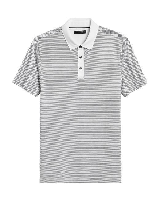 Erkek Beyaz Luxury-Touch Polo Yaka T-Shirt