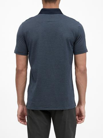 Erkek Lacivert Luxury-Touch Polo Yaka T-Shirt