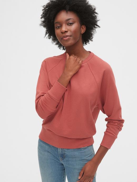 Kadın Pembe Düz Yakalı Sweatshirt