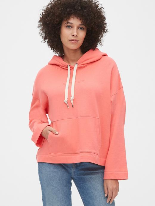 Kadın Turuncu Kapüşonlu Sweatshirt