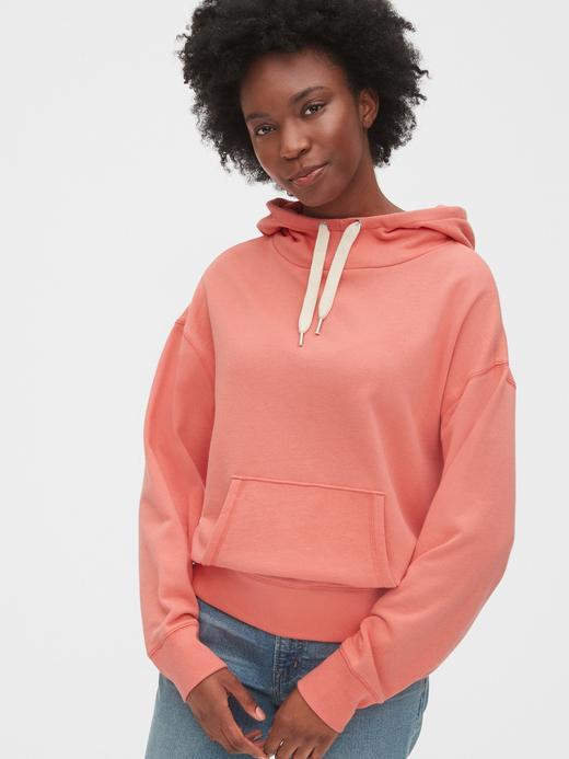 Kadın Pembe Kapüşonlu Sweatshirt