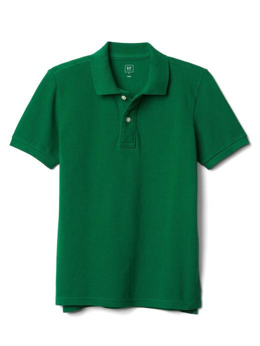 Erkek Çocuk Yeşil Kısa Kollu Polo Yaka T-Shirt