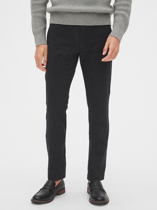 Erkek Siyah GapFlex Slim Fit Pantolon