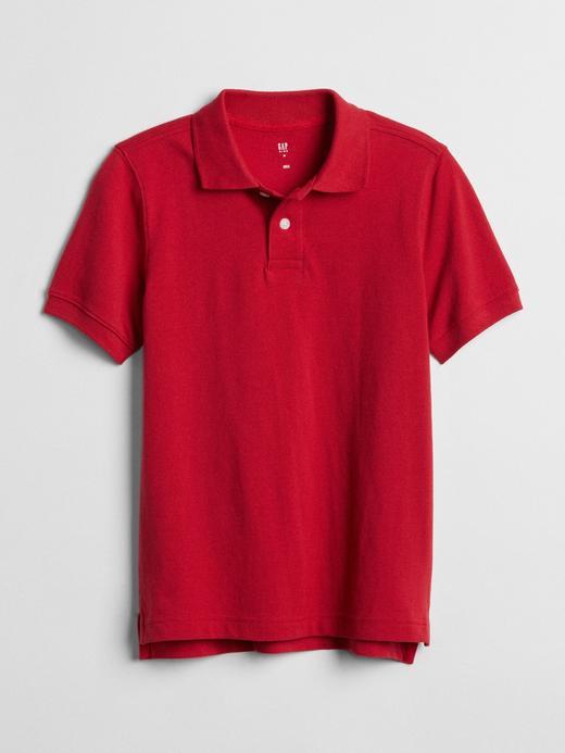 Erkek Çocuk Kırmızı Kısa Kollu Polo Yaka T-Shirt