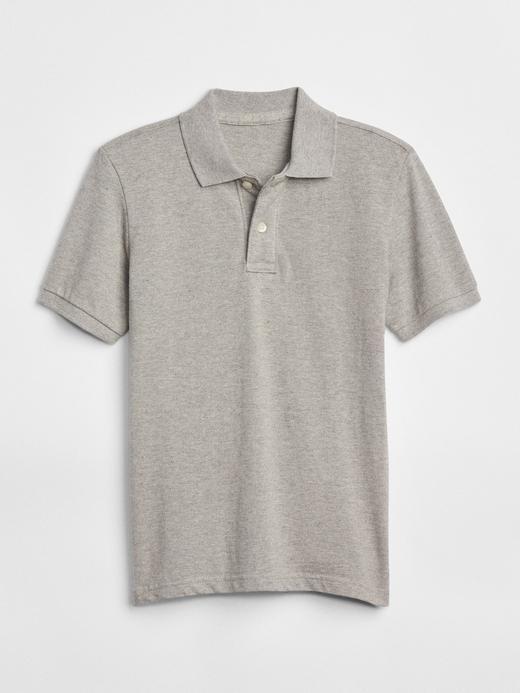 Erkek Çocuk Gri Kısa Kollu Polo Yaka T-Shirt