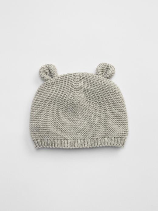 Erkek Bebek Gri Örgü şapka