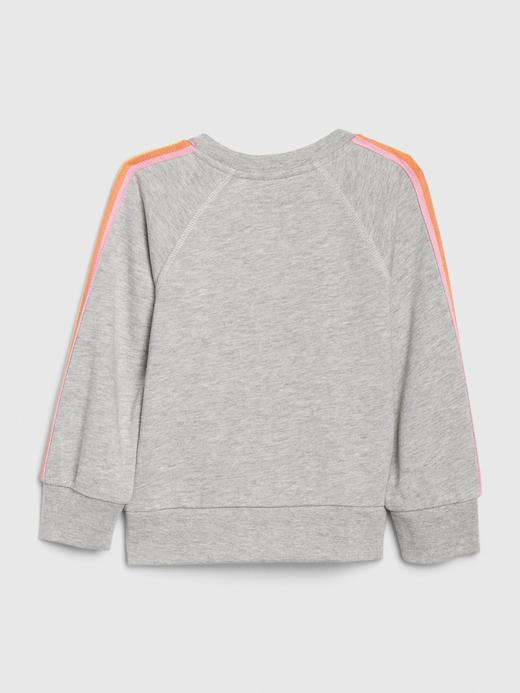 Kız Bebek Pembe Gap Logo Düz Yakalı Sweatshirt