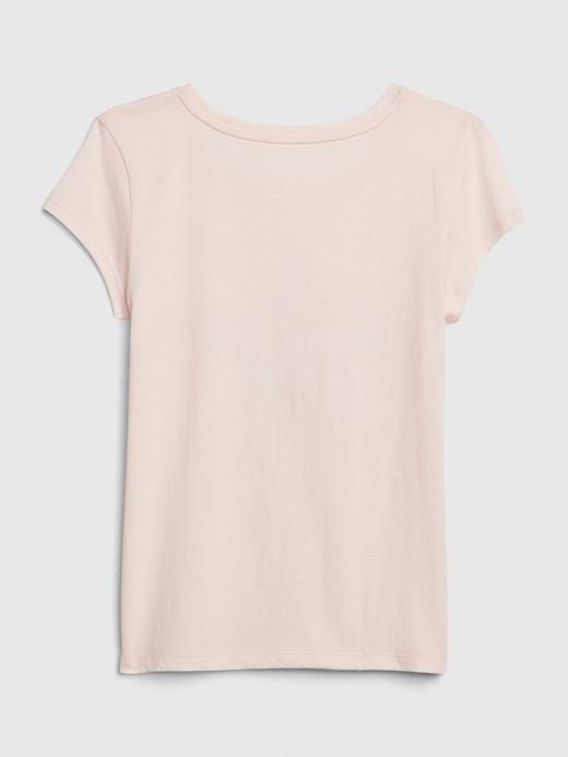 Kız Çocuk Gri Grafik Kısa Kollu T-Shirt